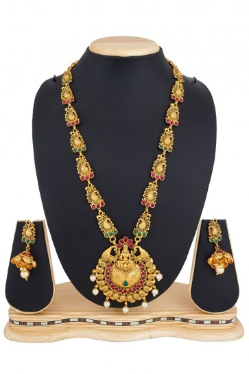 Gorgeous Golden Alloy Necklace Set