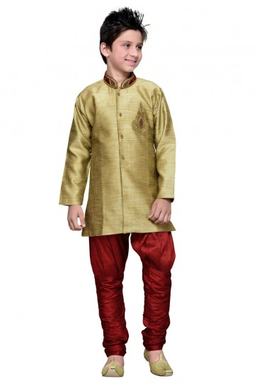 Marvelous Golden Hand Work Designer Kurta Pajama