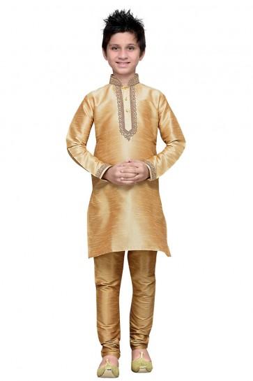 Supreme Golden Embroidered Designer Kurta Pajama