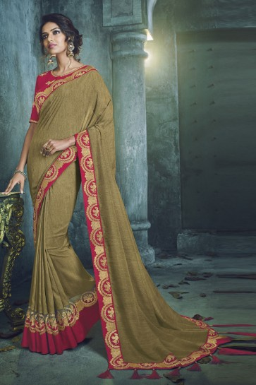 Green Fancy Fabric Jacquard Work Designer Saree