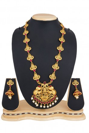 Optimum Golden Alloy Necklace Set