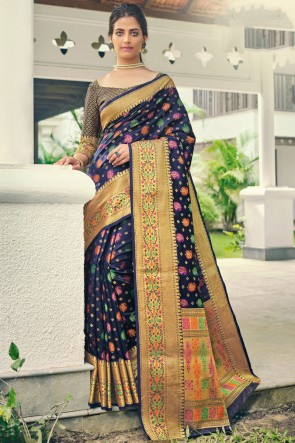 Grey Imported Lycra Fabric Printed Swaroski Work Designer Saree And Blouse