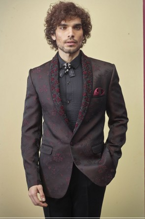Imported Fabric Brown Readymade Mens Suit