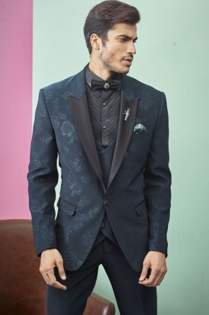 Imported Fabric Blue Stylish Readymade Mens Suit