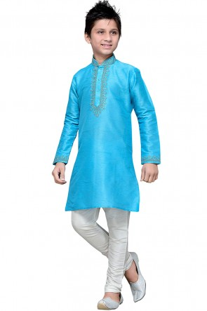 Supreme Sky Blue Embroidered Designer Kurta Pajama