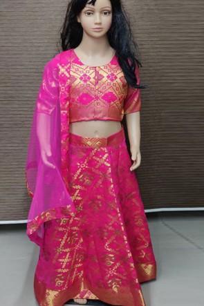 Gorgeous Pink Jacquard Lehenga Choli