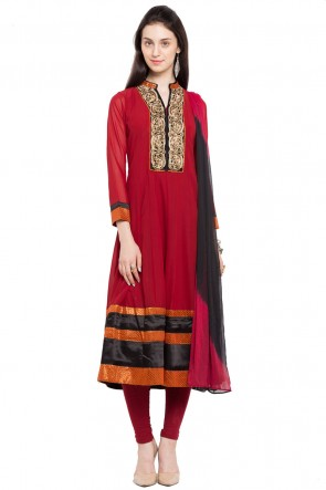 Charming Maroon Plus Size Readymade Salwar Suit