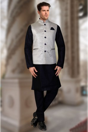 Jacquard Fabric Silver Only Jacket