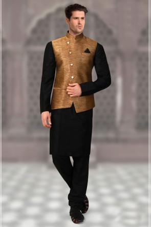 Admirable Khaki Jacquard Fabric Only Jacket
