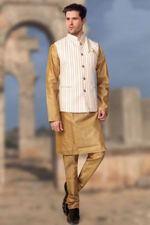 Gorgeous White Jacquard Fabric Only Jacket
